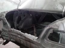 Замена задней части автомобиля